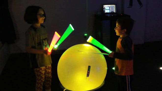 Young participants at Courage League Sports in Urbandale enjoy an innovative activity called sensory drumming.  CLS is targeting eastern Iowa for expansion and will hold an Adaptive Sports Day in North Liberty on Oct. 29.
