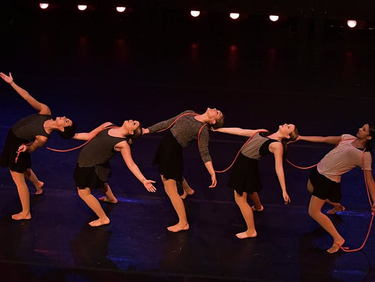 Members of Vortex Dance Company perform a piece from 'I'm in Here' in 2016. The performance raised $5,000 for breast cancer survivors and their families.