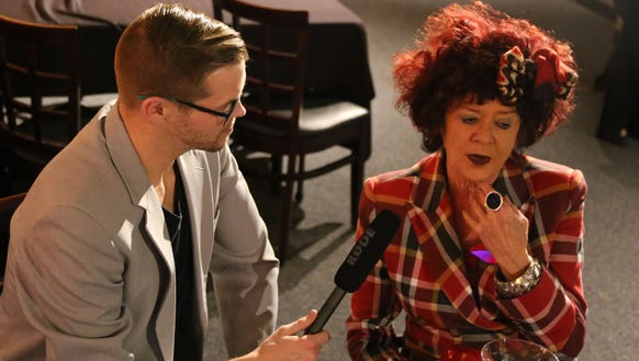 "Matthew Jacobson, left, interviews ""Rocky Horror Picture"