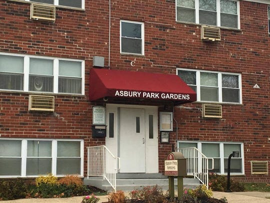 The Asbury Park Gardens apartment complex leasing office,