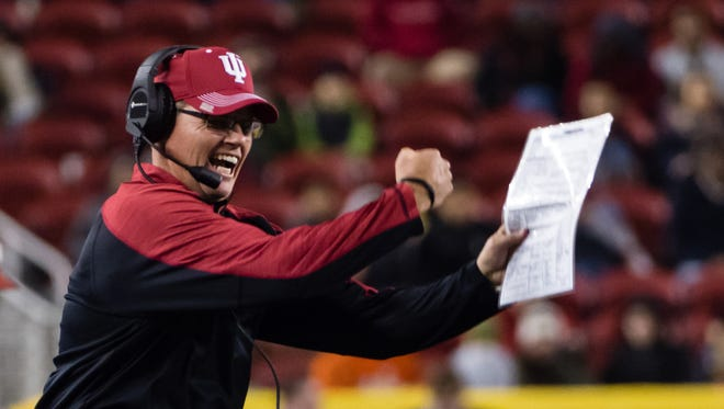 Indiana football coach Tom Allen signed his first recruiting class for the Hoosiers on Wednesday. He took over the program  on Jan. 15 after Kevin Wilson was dismissed.