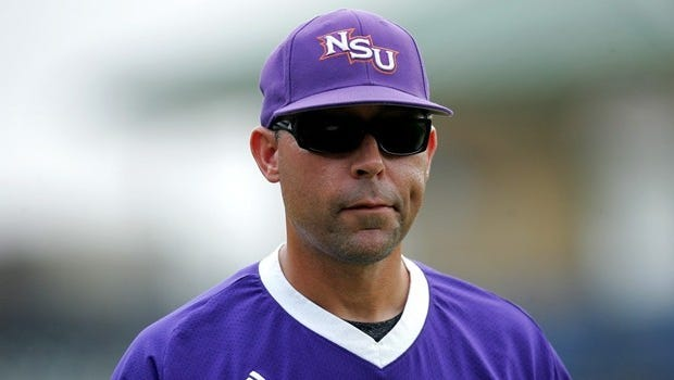 New Louisiana Tech coach and former Northwestern State skipper Lane Burroughs uses a stern stare to non-verbally communicate to his players.