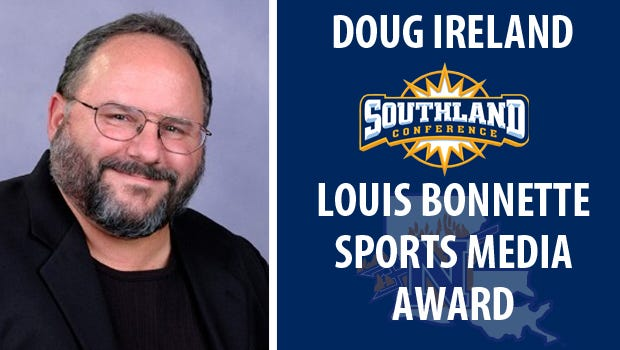 Doug Ireland honored by the Southland Conference.