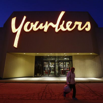 A woman leaves the Younkers at 700 E. Magnolia Ave.