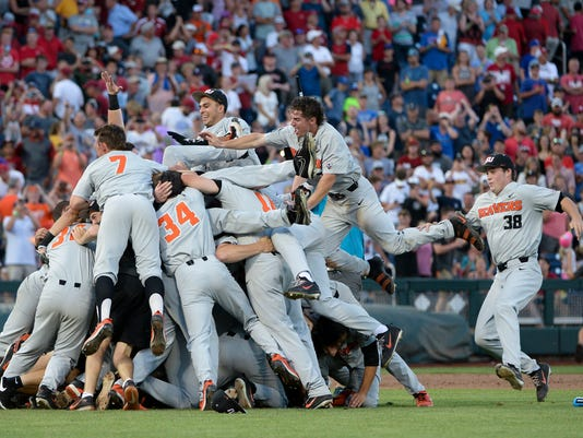 NCAA Baseball: College World Series Championship-Arkansas vs Oregon State