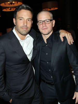 Ben Affleck, left, and his buddy Matt Damon are featured players in Democratic politics.