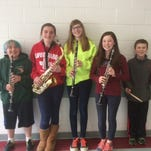 The following sixth-grade students will participate in the The Region 1 (North Jersey) Elementary Honors Band. Pictured left to right are Milagro Segura (clarinet), Alyssa Alverez (saxophone), Abigail Dietz (clarinet) Shannon O'Sullivan (clarinet), and Henry Goodnick (snare drum).