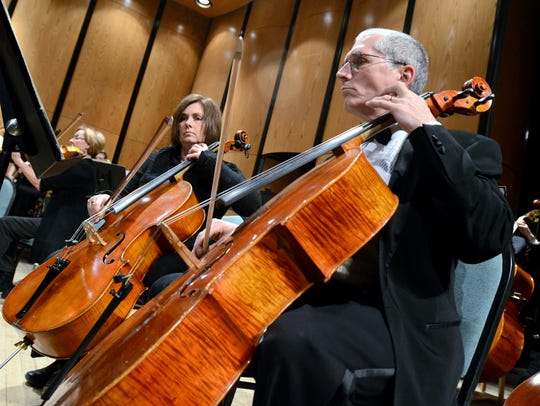 Dave Stein, of St. Clair, plays the cello in the International