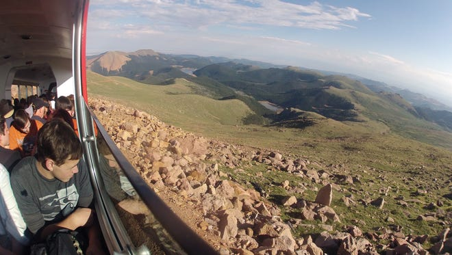"""The iconic song """"America the Beautiful"""" was inspired by Katherine Lee Bates's trip to the top of Pikes Peak in 1893. Millions of visitors have ridden the Pikes Peak Cog Railway since."""
