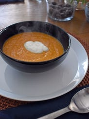 Spicy Sweet Potato Soup is silky smooth and loaded