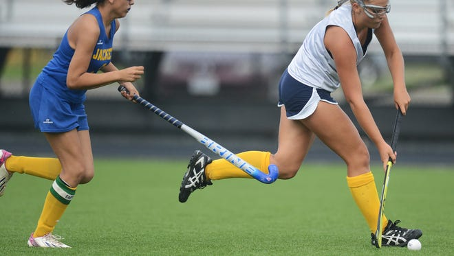 Pocomoke field hockey scrimmaged Northampton High School on Thursday, Sept. 1, 2016. The Warriors outscored the visiting Yellow Jackets 12-0.