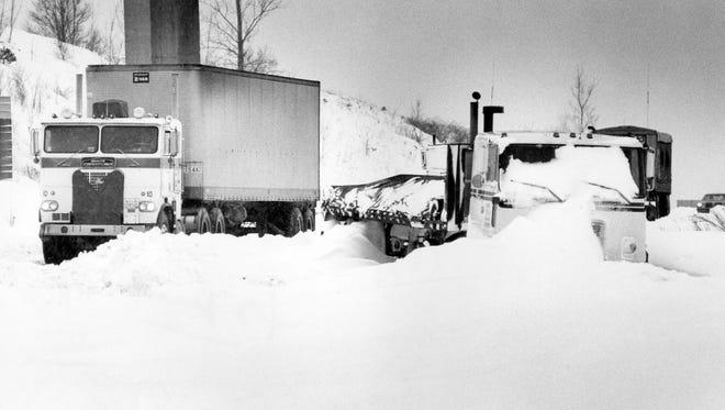 Blizzard of January 1978. North bound I71.