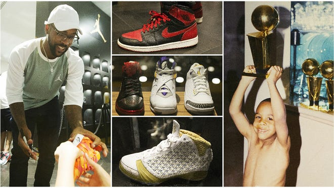 "Scenes from inside the Trophy Room on Sunday at Disney Springs at Walt Disney World in Orlando, Florida. Marcus Jordan, son of Michael Jordan, opened the store as a tribute to his father and family. The grand opening is Monday and will feature Jordan family photos, rare sneakers and clothing. ""I want people to know what it is like to be in our family's trophy room,"" said Marcus Jordan."