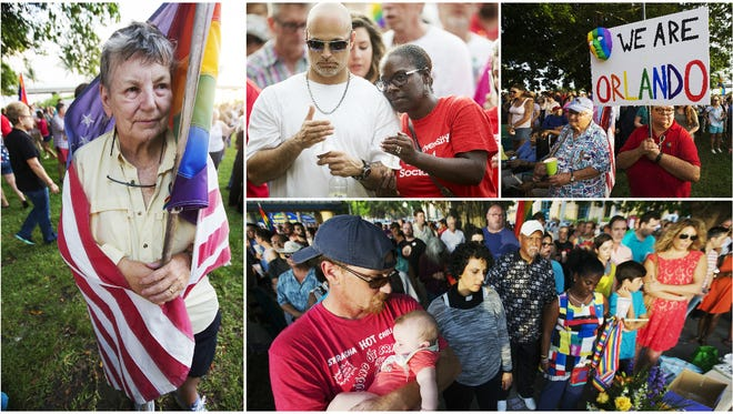 More than 1,500 people attended a vigil Saturday for the victims of the Orlando shooting at Centennial Park in downtown Fort Myers.