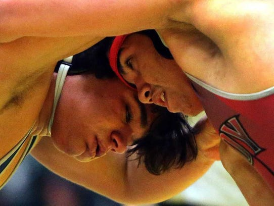 The opening round of the GMC wrestling tournament was