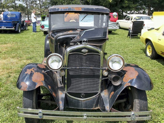 One of the more elderly automotive guests that were to be found at the Hilltop Playground Association's Sixth Annual Car Show Saturday.