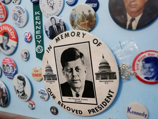 John F. Kennedy memorabilia in the collection of local