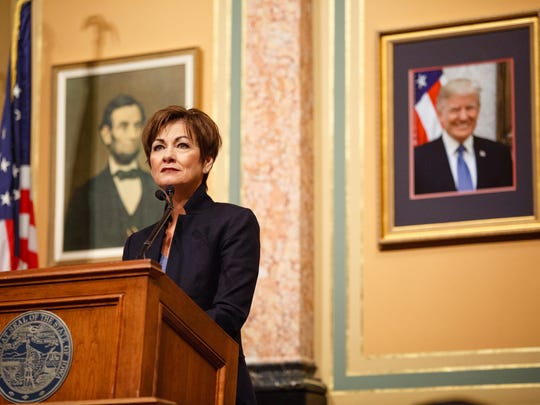Gov. Kim Reynolds makes her first Condition of the