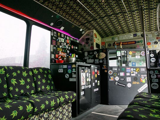 The Potlandia Experience bus can seat up to 14 people.