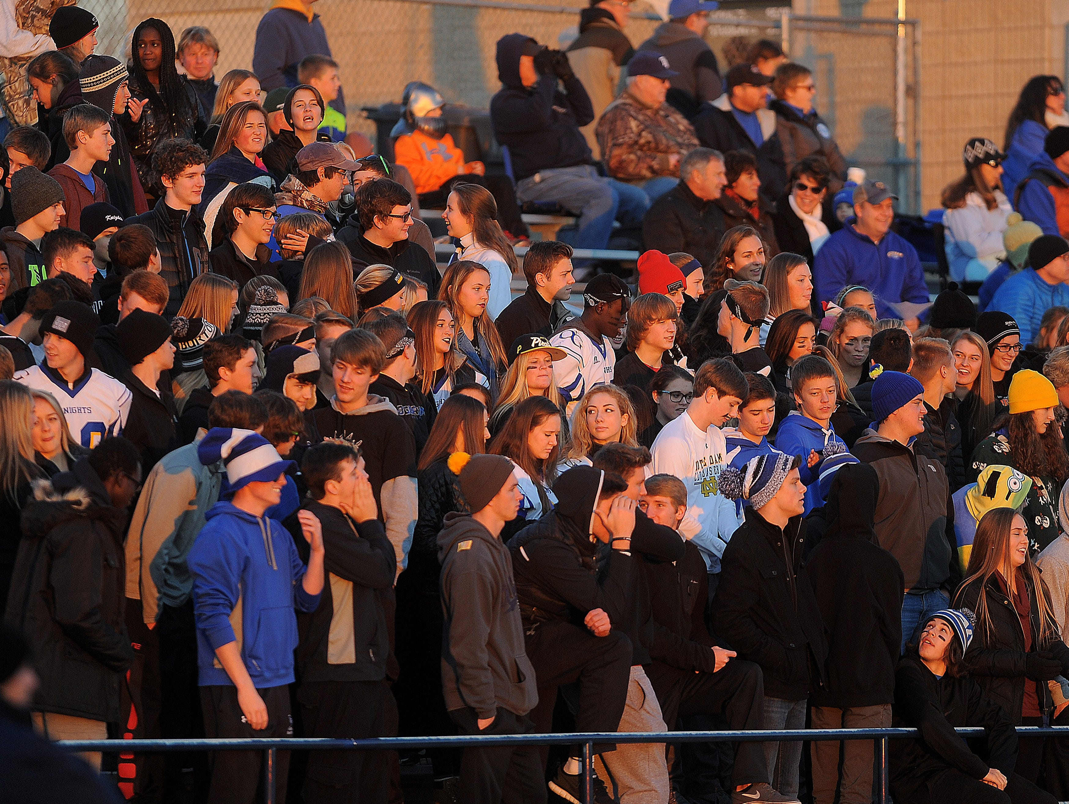O'Gorman Knights take on Aberdeen at McEneaney Field on Thursday, Oct. 29, 2015.