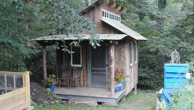 Terry Ramsey created this storage shed from reclaimed wood, tin, windows and other materials and won the Live and/or Work Space category.