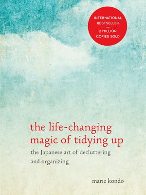 "This photo provided by Ten Speed Press shows the cover of the book, ""The Life - Changing Magic of Tidying Up,"" by author, Marie Kondo. (AP Photo/Ten Speed Press)"