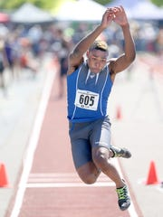 Olympic's Darelle White won a Class 2A state triple