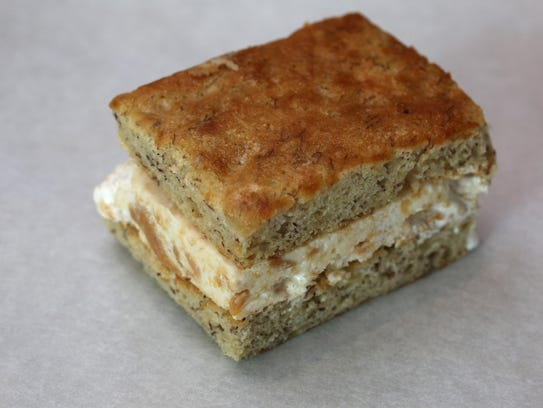 The Fluffernutter ice cream sandwich on banana bread