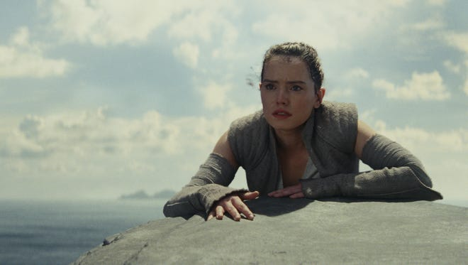 Daisy Ridley stars as the heroine Rey in 'Star Wars: The Last Jedi.'