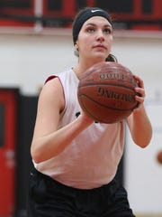 Senior Sarah Lauer is one of many reasons why Tri-County has seen an upturn in its basketball fortunes in recent years.