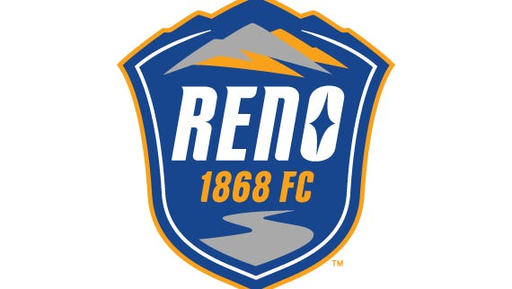 The official Reno 1868 FC crest, unveiled on Wednesday night.