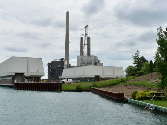 The St. Clair Power Plant sits along the St. Clair