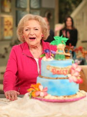Betty White at the celebration of her 93rd birthday