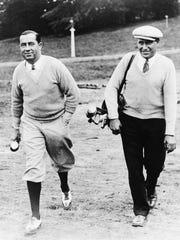 Walter Hagen practicing for the British Open in 1926.
