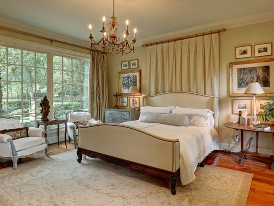 The master suite is a decorator's dream.