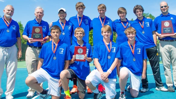 Joseph Schrader and the Brevard boys tennis team were the 2-A Western Regional champions.