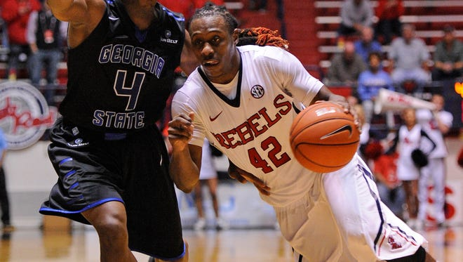 Ole Miss guard Stefan Moody scored 21 points to lead the Rebels to a 67-54 against Bradley on Saturday afternoon.