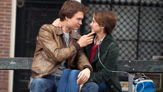 """Ansel Elgort and Shailene Woodley in a scene from the motion picture """"The Fault in Our Stars.""""   Credit:  James Bridges, 20th Century Fox  [Via MerlinFTP Drop]"""