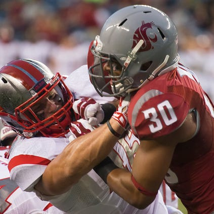 Washington State Cougars vs. Rutgers Scarlet Knights at CenturyLink Field in Seattle, Aug. 28, 2014.