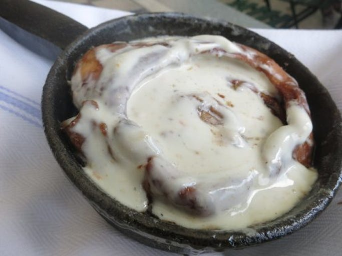 Cinnamon rolls at Parks & Rec diner in Detroit are