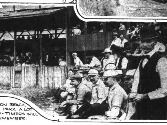 Bright Beach Park ballpark photo taken from a 1932 Indianapolis News story.