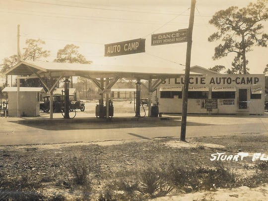 St. Lucie Auto Camp in the 1920s