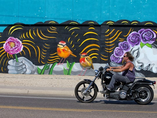 Lauren Lee recently finished a mural near Hardy Drive
