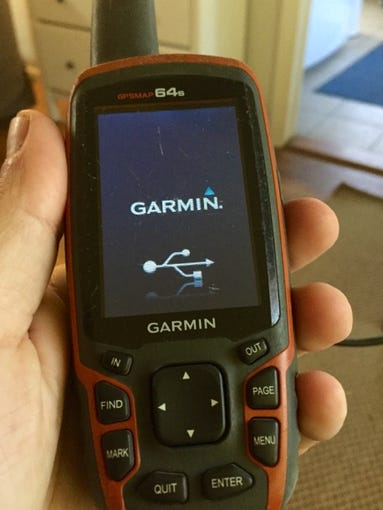 This Garmin GPS Map 64S is a little heavy but it's
