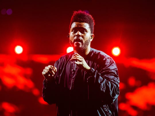Canadian singer and songwriter, The Weeknd on tour performing at the Palace of Auburn Hill, Mi, May, 24,2017.
