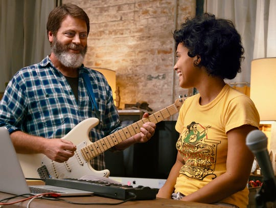 Nick Offerman and Kiersey Clemons star as a father