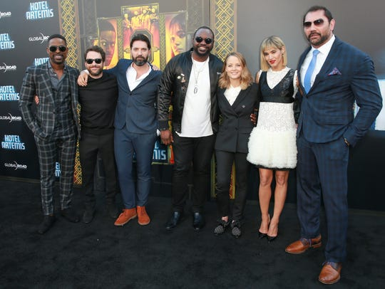(L-R) Sterling K. Brown, Charlie Day, Drew Pearce,