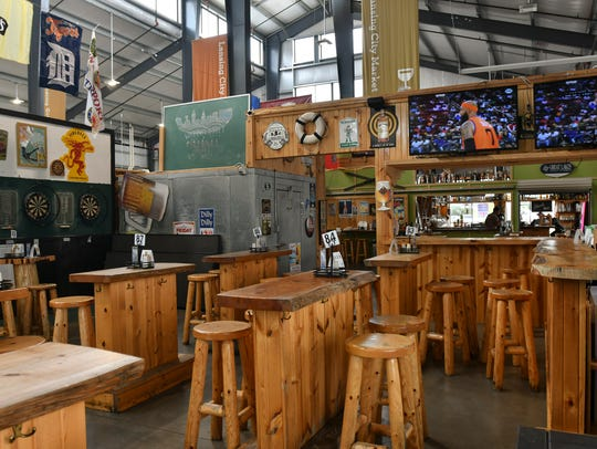 The Waterfront Bar and Grill inside the Lansing City