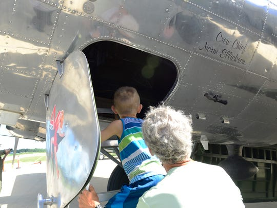 Visitors to the Liberty Aviation Museum enjoyed a peek