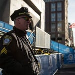 Boston Marathon security.